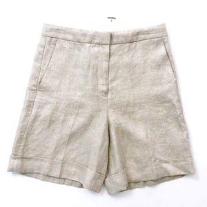 J Crew Women's High Rise Bermuda Linen Shorts 4